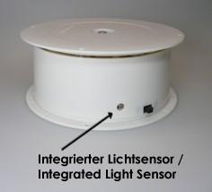 Batterie Drehbühne 4kg Tragkraft mit Lichtsensor